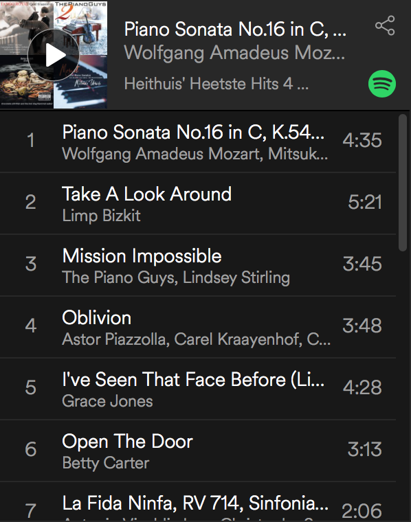 De Spotify-lijst van Niels